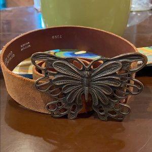 Vintage leather butterfly belt 🦋